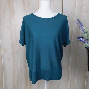 Eileen Fisher Short Sleeve Teal Sweater